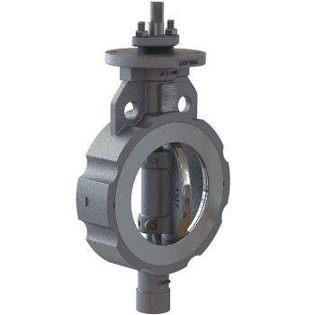 Butterfly Valve - Carbon Steel Wafer - High-Performance - PTFE Lined
