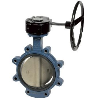 Butterfly Valve - Lug Type, body GGG-25, Disc GGG40, EPDM seat, gearbox