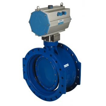 Double-eccentric Butterfly Valve - Cast iron, PN10, 21184, [pneumatic actuator]