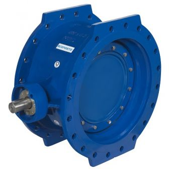 Double-eccentric Butterfly Valve - Cast iron, PN10, flanged - 21180 [bare shaft]