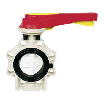 PP Plastic Butterfly Valve K4 with Hand Lever