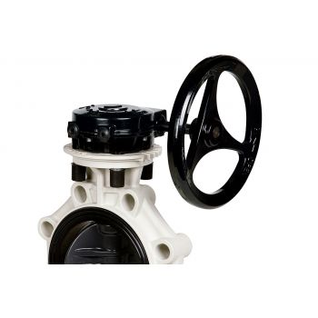 PVC-U Plastic Butterfly Valve K4 with Hand Lever