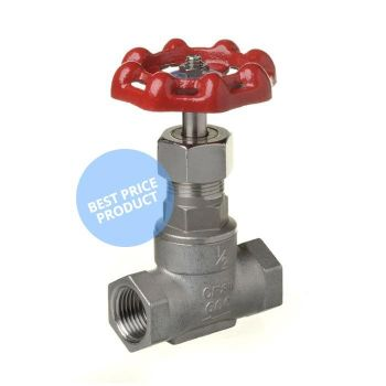 Screwed Stainless Steel Gate Valve - 10bar / 200 psi