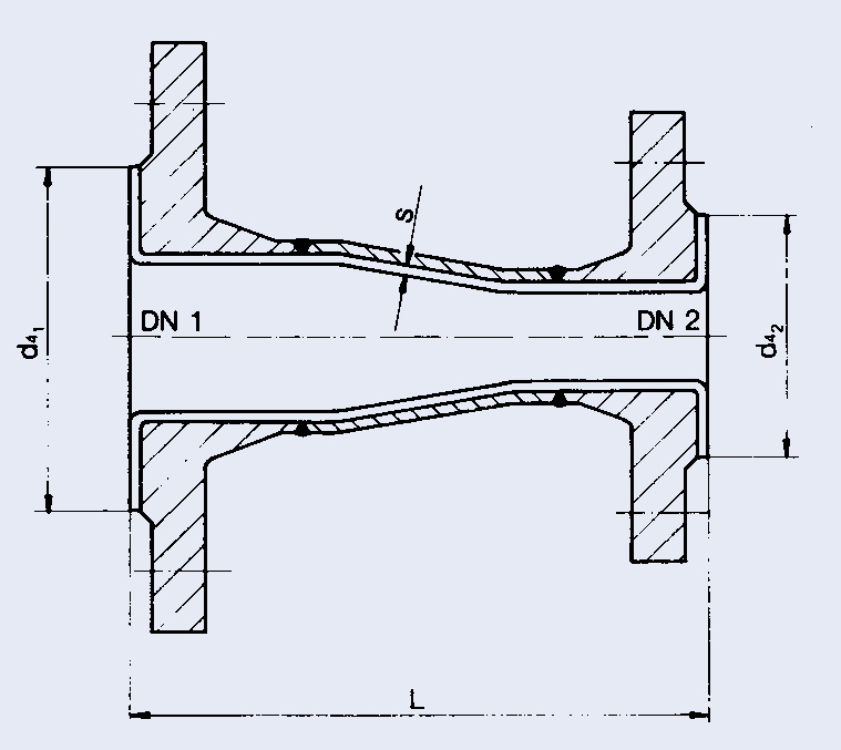 Ptfe lined reducers