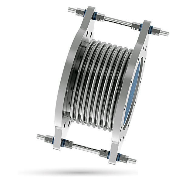 Tied axial expansion joints