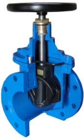 Gate Valve With Rubber Lined Wedge
